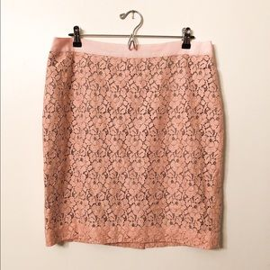 NWOT J. Crew Floral Lace Pencil Skirt